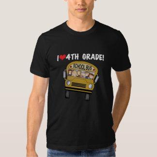 School Bus I Love 4th Grade Tshirt