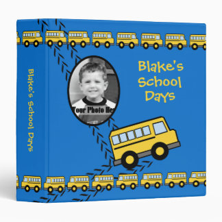 School Bus Keepsake Blue with Photo Binder