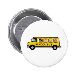 School Bus Kids 2 Inch Round Button
