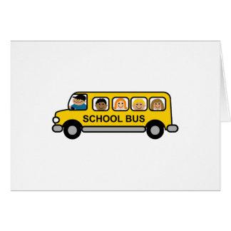 School Bus Kids Greeting Card