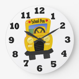 School Bus Large Clock