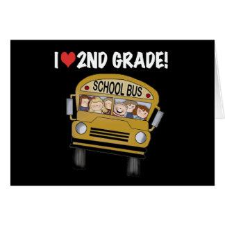 School Bus Love 2nd Grade Greeting Card