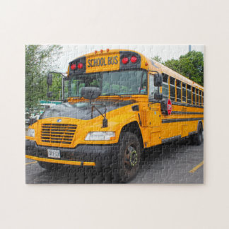 School Bus Montreal. Jigsaw Puzzle