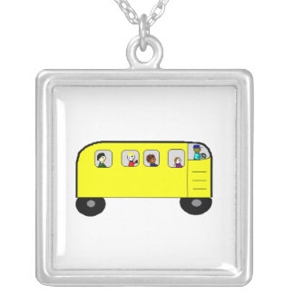 School Bus - necklace