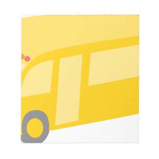School Bus Notepad