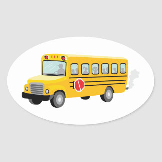 School Bus Oval Sticker