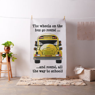 School Bus Personalized Fabric