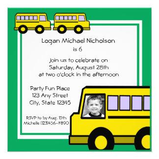 School Bus photo Invite
