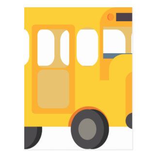 School Bus Postcard