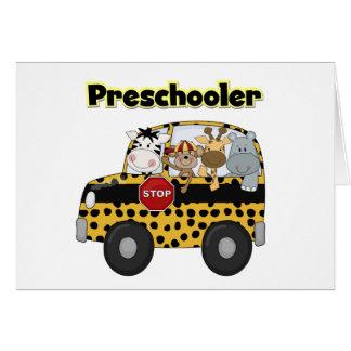 School Bus Preschooler Tshirts and Gifts Card