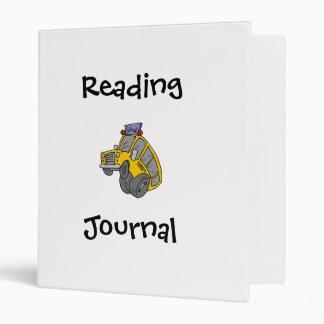 School Bus Reading Journal Binder