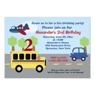 School Bus Town Birthday Invitation (Any Age)