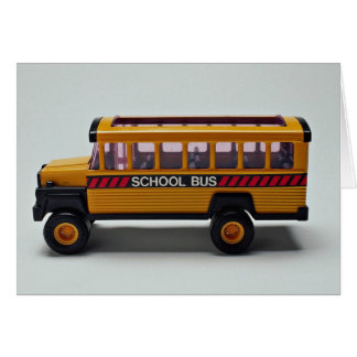 School bus toy for kids card