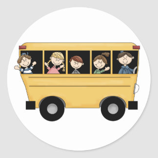 School Bus with Kid's & Driver D2 Stickers