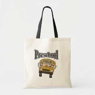 School Bus with Kids Preschool Tshirts and Gifts Tote Bag