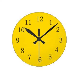 School Bus Yellow Kitchen Wall Clock