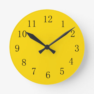 School Bus Yellow Kitchen Wall Clock