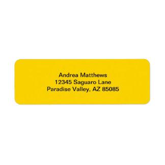 School Bus Yellow Solid Color