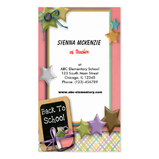 School Double-Sided Standard Business Cards (Pack Of 100)