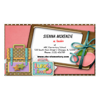 School Pack Of Standard Business Cards