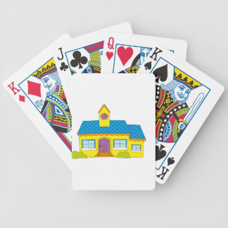 School Cartoon Bicycle Playing Cards