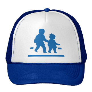 School Children Crossing >> Japanese Traffic Sign Trucker Hat