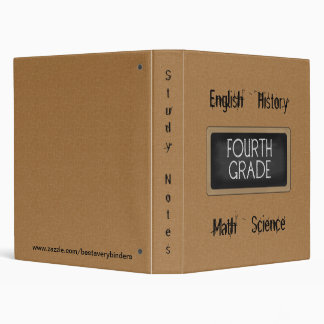 School Collection Fourth Grade Study Notes Binder