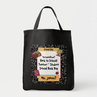 School Collection Teacher Student Book Tote Bag