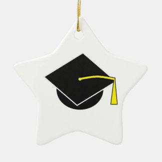 School/College/University Graduation Cap Ceramic Star Ornament