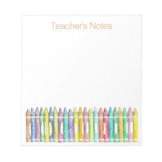 School Color Crayons Teacher's Notes
