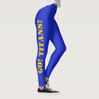 SCHOOL COLORS Leggings Cheerleader Yoga Pants