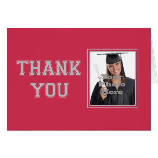 School Colors Thank You Note Card