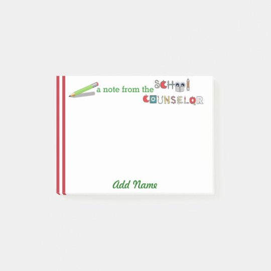 School Counsellor Customized Post-it® Note