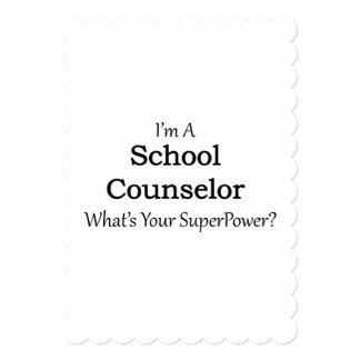 "School Counselor 5"" X 7"" Invitation Card"