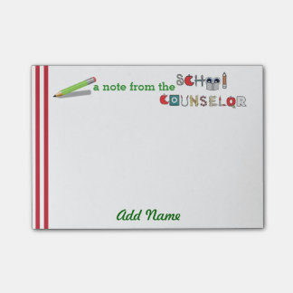 School Counselor Customized Post-it® Note
