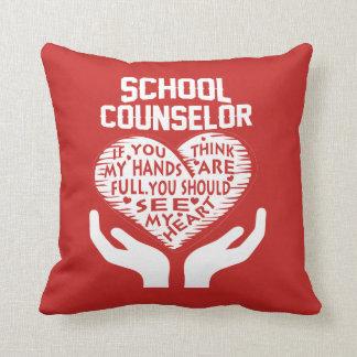 School Counselor Throw Pillow