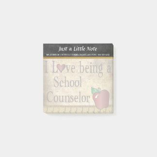 School Counselor   Vintage Style Post-it Notes