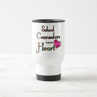 School Counselors Have Heart Travel Mug