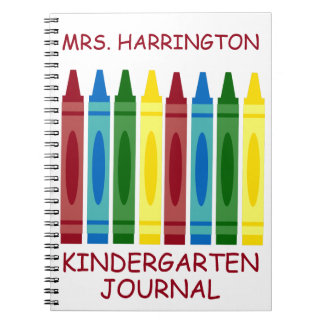 School Crayons Personalized Notebook