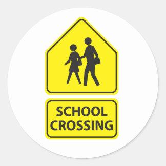 School Crossing Sign Stickers