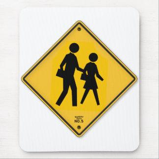 School Crosswalk Sign Walk Safety School Sign Mouse Pad