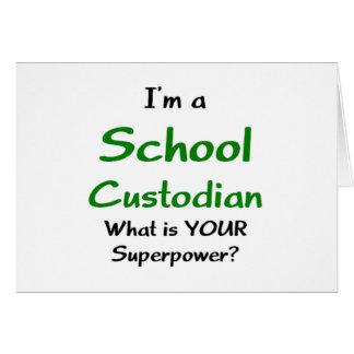 school custodian card