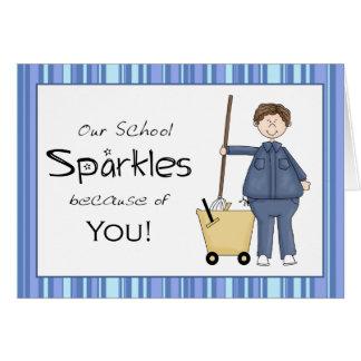 School Custodian Thank You Card