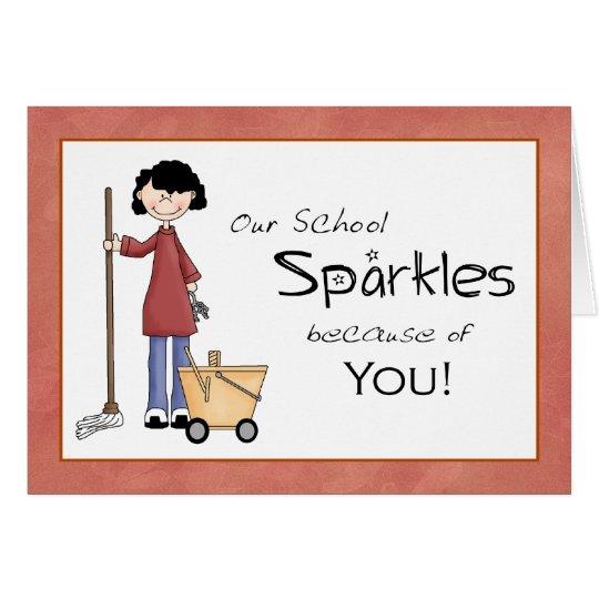 School Custodian Thank You Card | Zazzle.ca