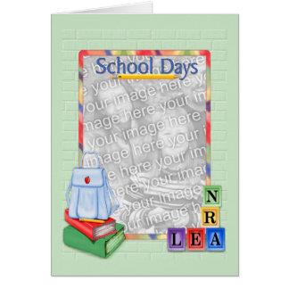 School Days Blocks - Photo Card