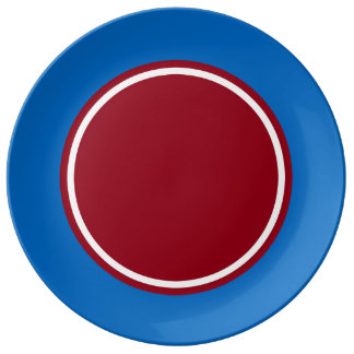School Days Blue With Red and White Plate