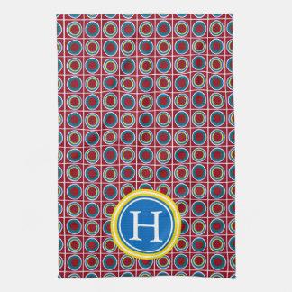School Days Button Monogram Kitchen Towel