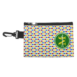 School Days Kindergarten Beads Monogram Accessory Bag
