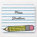School Days Pencil & Paper Personalized Mousepad