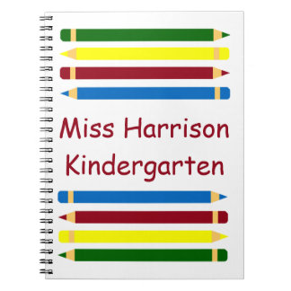 School Days Pencils Personalized Notebook